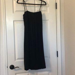 Club Monaco Black Midi Dress Size M